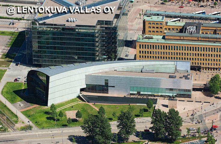 Helsinki, Nykytaiteen museo Kiasma Ilmakuva: Lentokuva Vallas Oy