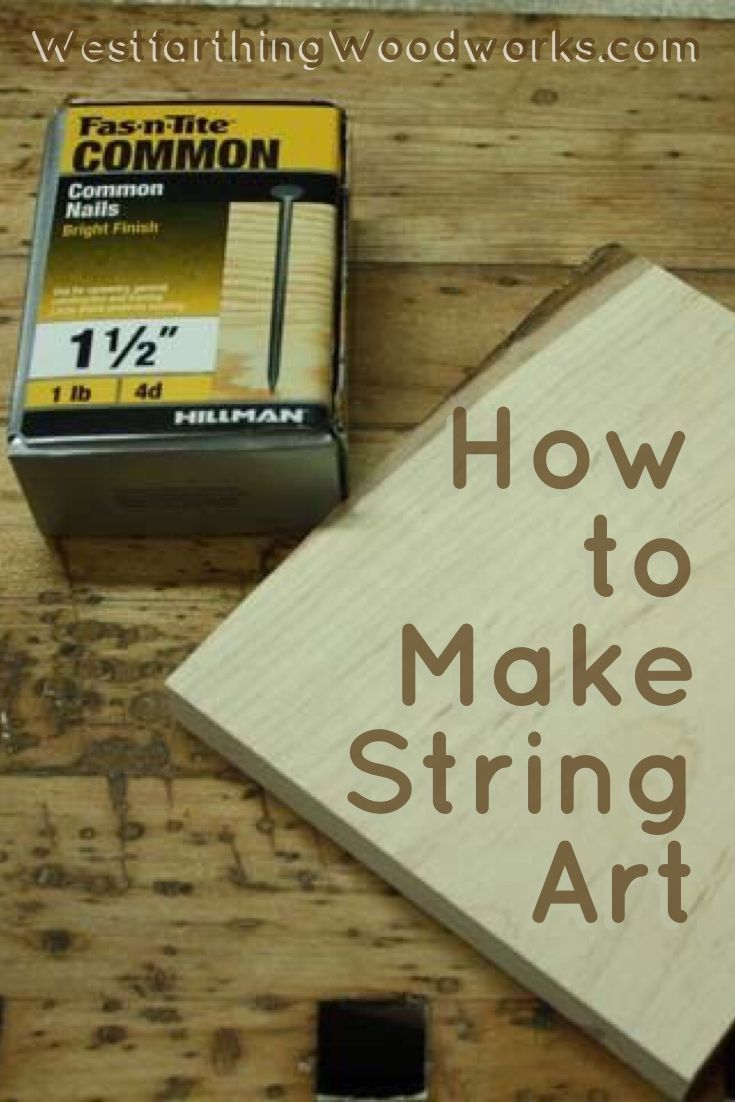 How to make string art. This string art heart is an easy woodworking tutorial, a…