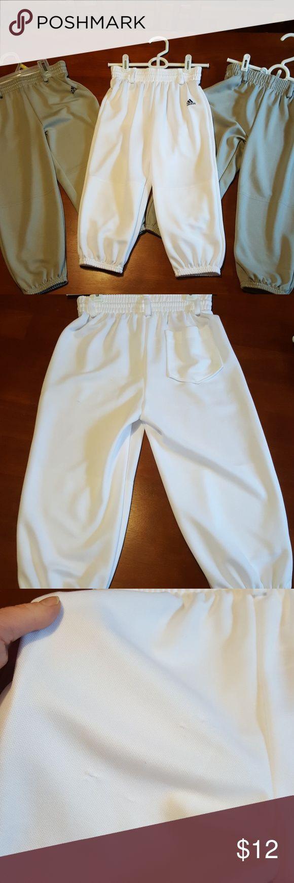 Adidas Climalite Beltloop Baseball Pants Small EUC Adidas Baseball Pants. No stains. Picked area on white pants shown in pic. Smoke free home. adidas Bottoms