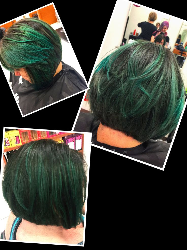 fun color angled bob bayalage color technique myhclook haircuttery alomawalk - Coloration Redken Nuancier