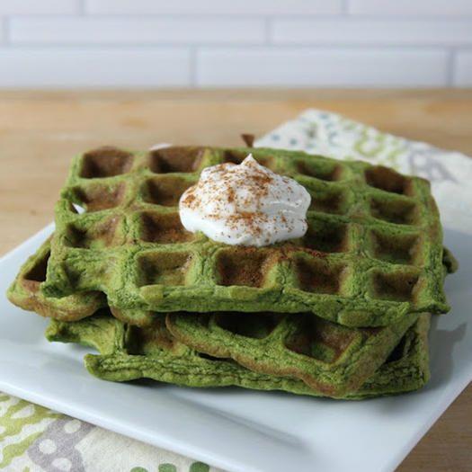 Heart Healthy Food Spinach Banana Waffle