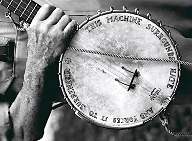 Peter Seeger and his banjo