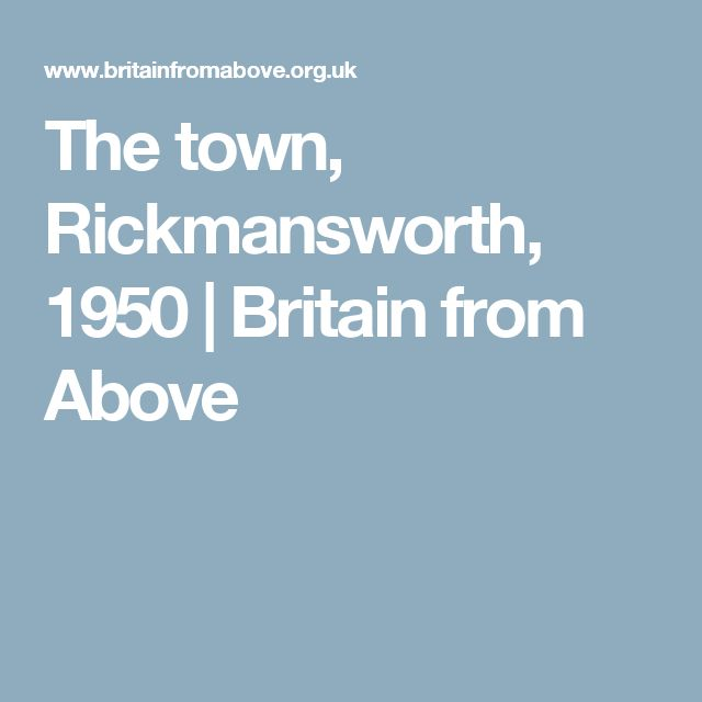 The town, Rickmansworth, 1950 | Britain from Above