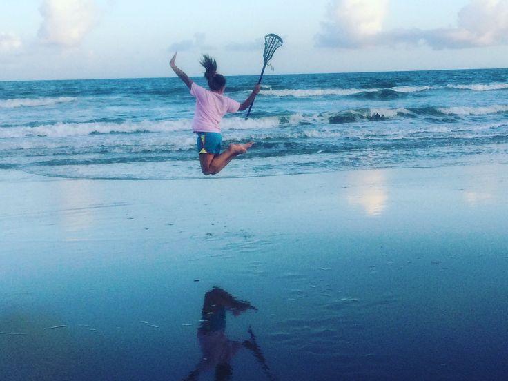LAX goals at the beach!