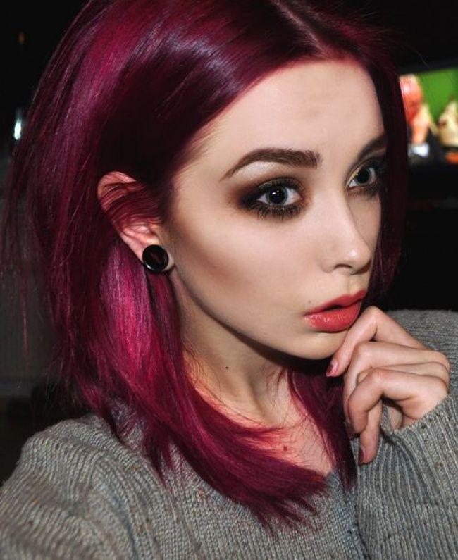 cheveux framboise la couleur qui cartonne en 2016 tendance coiffure - Coloration Prune Exquise