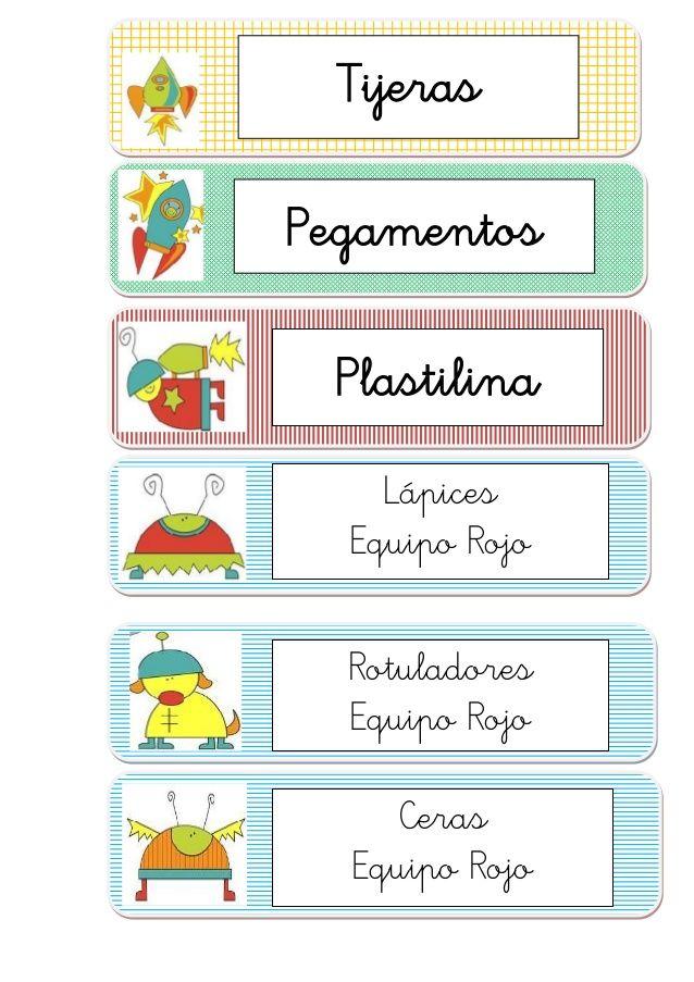 44 best etiquetas escolares images on pinterest printables free printables and invitations - Etiquetas para el cole ...