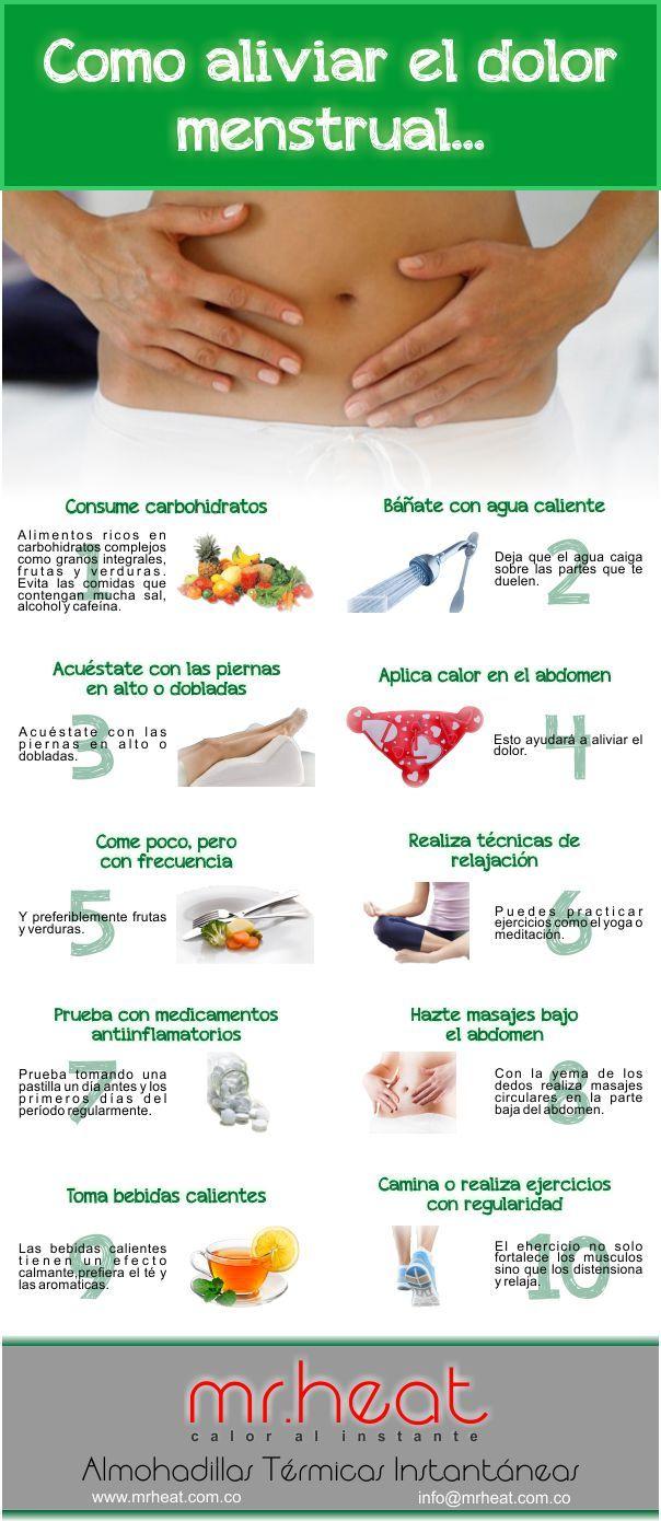 10 cosas que te ayudaran con los dolores menstruales. #mr_heat    #alivia_dolores