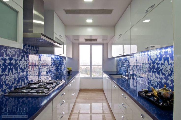 the blue kitchen : Modern kitchen by ZERO9