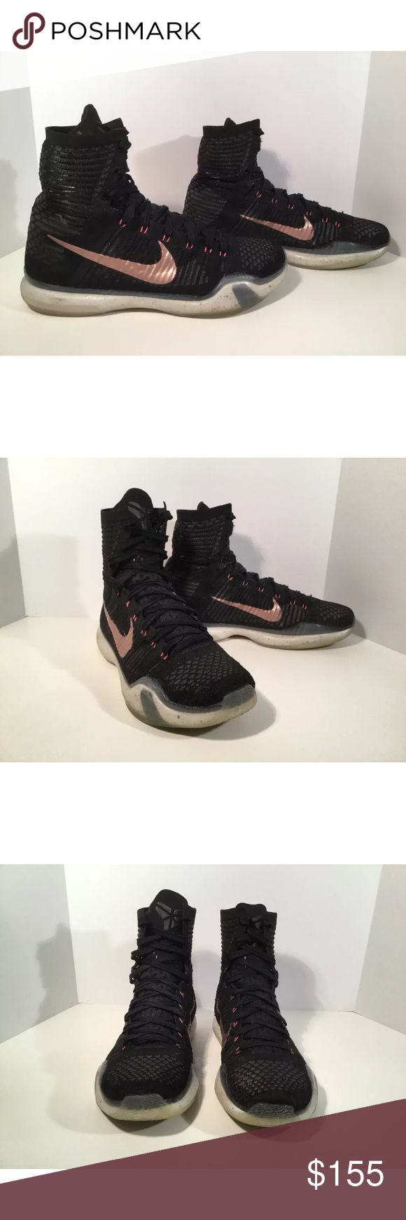 Nike Kobe elite Item details:   -Nike brand  -rose gold  -in good condition, has a pen mark and some damage to the sock area  -Men's Size 10.5  -Kobe 10   All my shoes are 100% authentic. Buyer satisfaction is very important to me and I will always do my best to make sure you have a good experience when purchasing my items. I sell many hard to find, past season, and popular shoes at discount prices. If I have the box for the shoes, I always include it in the pictures. Nike Shoes Athletic…