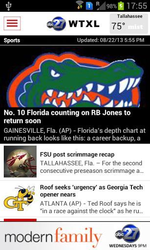 The WTXL 27 News app is your news on the go. Find the latest, from South Georgia to North Florida. Stay informed on the go with local and national news, including community events, health and business information. Watch video clips and share stories on Facebook & Twitter. Stay on top of the local sports scores and even check out the current conditions and weekly weather forecast.