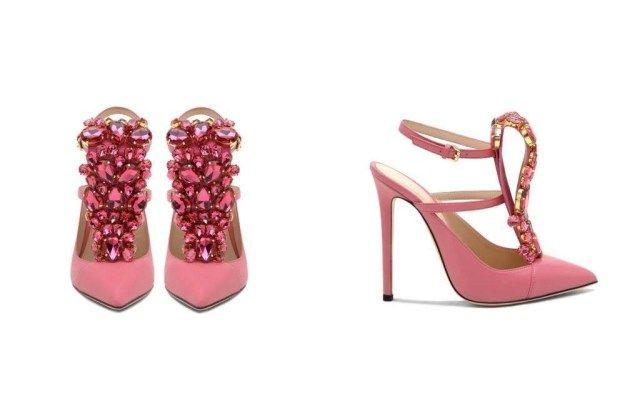 """A rendere una comune scarpa, """"LA"""" scarpa quest'anno è indubbiamente il cinturino. Elegante e sensuale la Mary Jane rosa Gedebe."""
