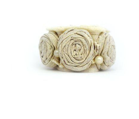 Fabric Cuff Bracelet Bangle Rolled