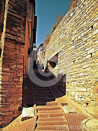 Resplendent view of the roads  Assisi umbria Italy