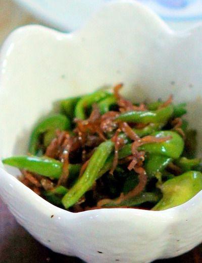 ピーマンとちりめん山椒の炒め物とインゲンの胡麻和えレシピ by manngo ...