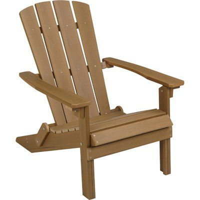 Folding Composite Adirondack Chair — Brown