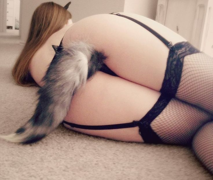 Cute girl with fox tail