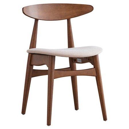 Cortland Danish Modern Walnut Dining Chair (Set of 2) - Inspire Q