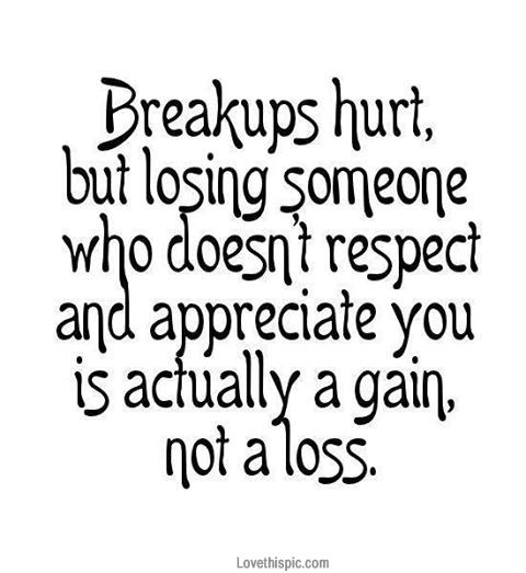 This is so true! I have been in too many relationships where I was not appreciated nor respected! You cannot put up with that crap! You have to heal and get over it! There is light at the end of the tunnel and you are going to be a better person because of it! BE STRONG @Grace K Taylor