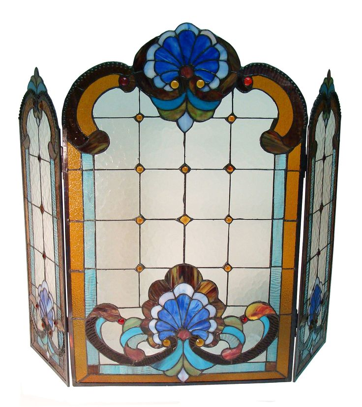The 25+ best Stained glass fireplace screen ideas on ...