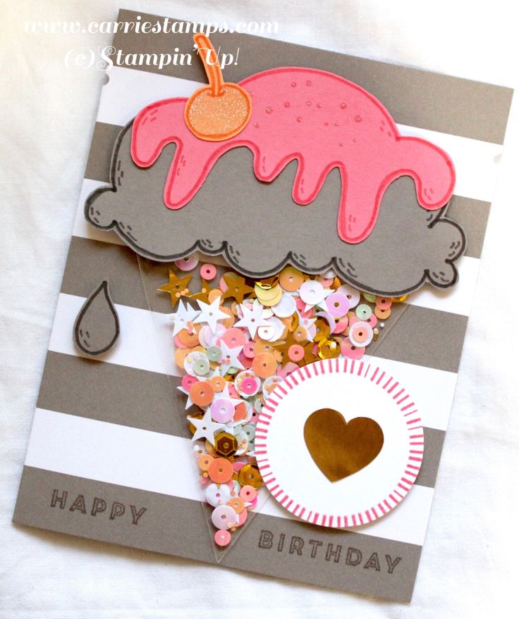 Use cellophane bags for shaker cards