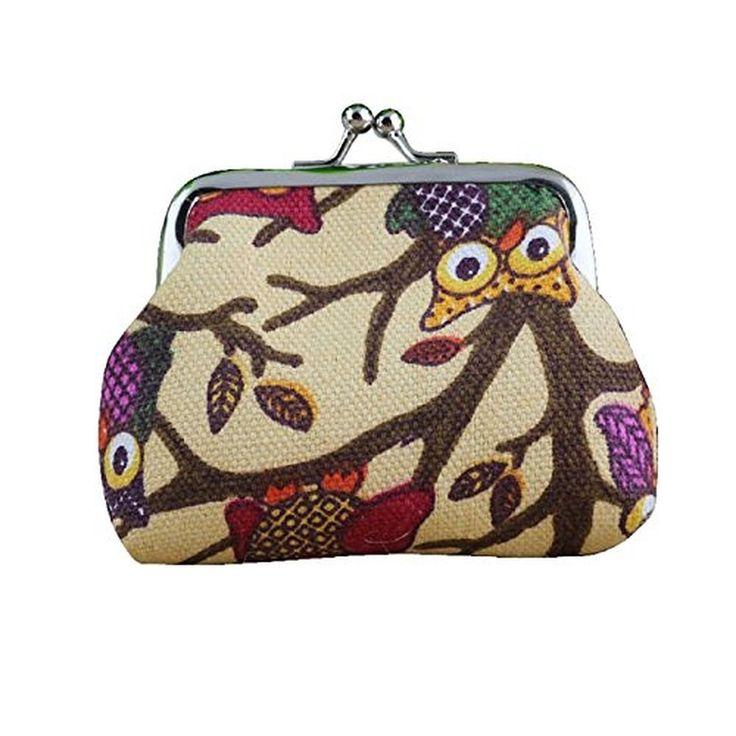 Moxeay® Ladies' Cute Mini Owl Small Hasp Coin Purse Wallet Clutch Bag