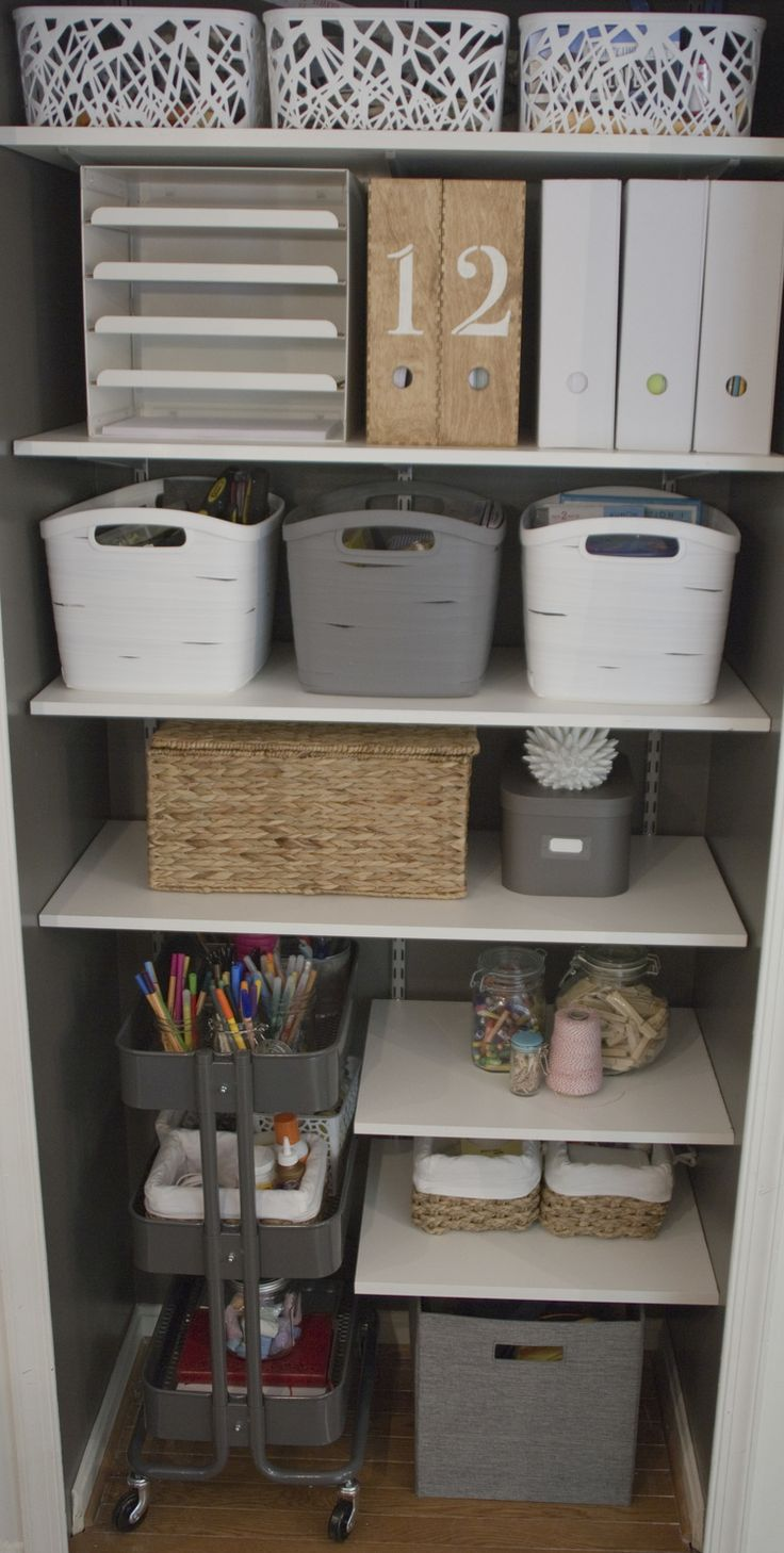 organized storage closet | Beautiful Protest                                                                                                                                                                                 More