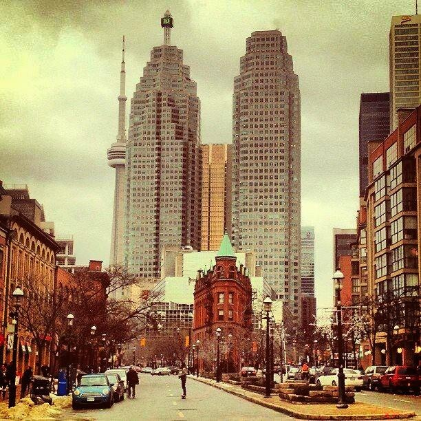 CN Tower Peekaboo. Interesting shot of downtown Toronto.