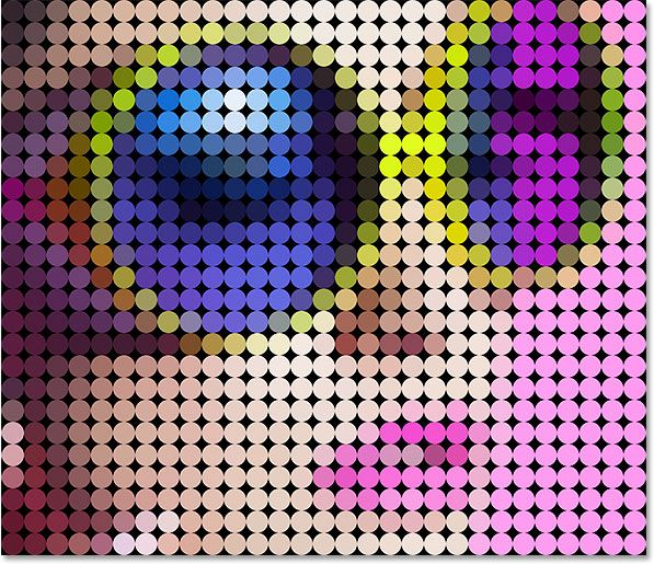 easy to follow photoshop tutorial for making a colored dot mosaic from your photo. #photoshop #mosaic