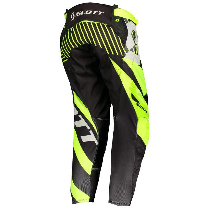 Scott 450 PATCHWORK Pants (BLK/YEL).