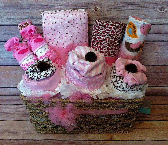 Baby gift basket baby girl gift basket baby layette baby