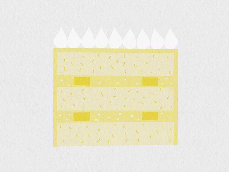 🍰 19 Dagen SMAAK – Dag 8: Citroen Schuimpjes 🍋  – frisse vanille taart met citroen schil, gevuld met verse citroen curd, citroen botercrème op meringue basis en stukjes meringue schuimpjes. Afgewerkt met heerlijke meringue kusjes 💋 .  •  Over 19 Dagen SMAAK: Serie illustraties die de SMAAK Collectie van Studio Happy Story zichtbaar maken door @debbieaitatus  •