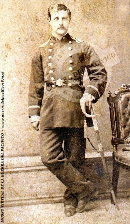 Edmundo Arcillón, Oficial del 2° de Línea, héroe de las campañas de Tacna y Arica