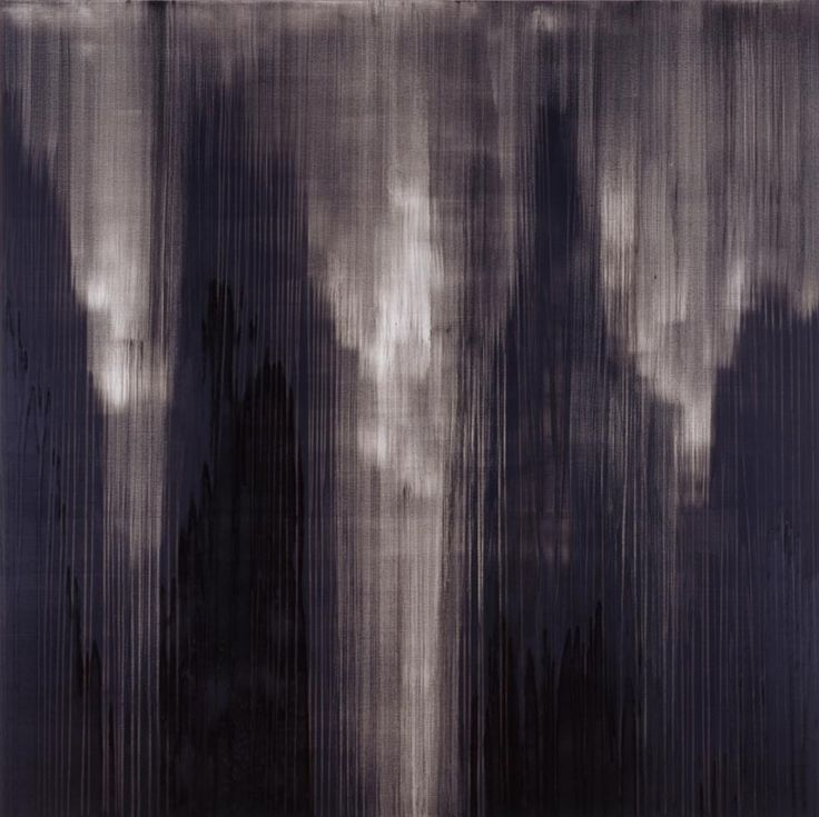 Callum Innes // Monologue Black 3, 2007  Oil on canvas  222.5 x 222.5 cm