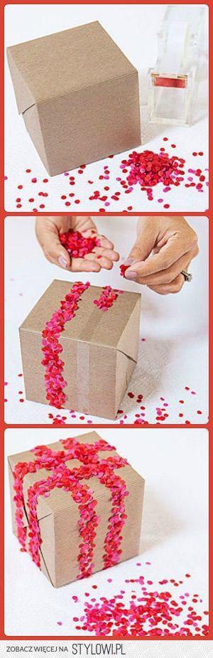 Using confetti to decorate
