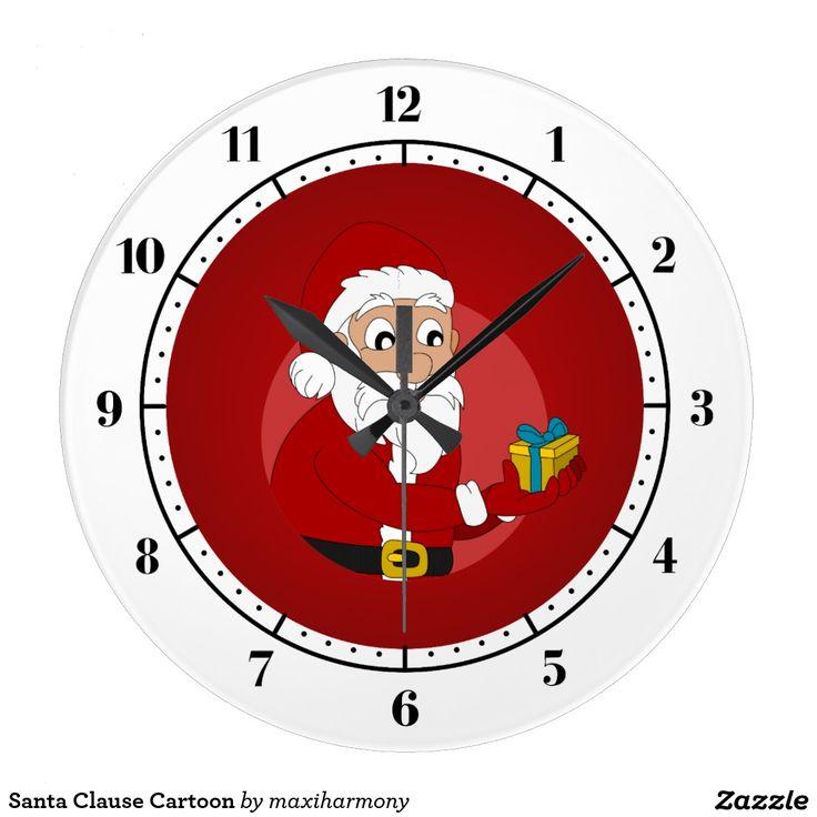 Santa Clause Cartoon Clocks