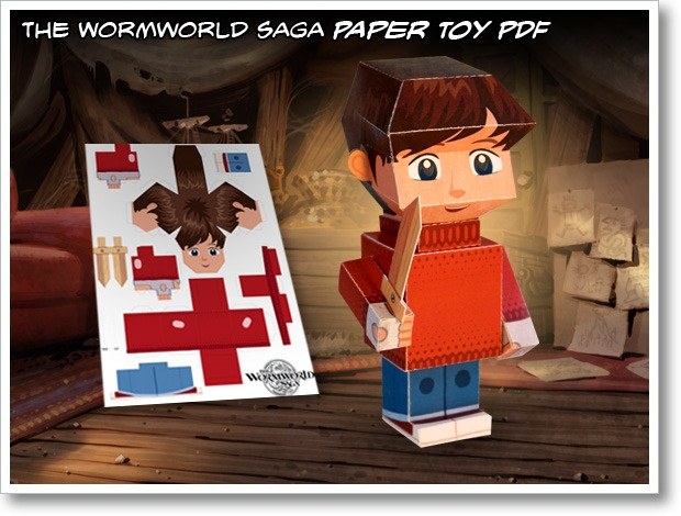 Papertoy for the Wormworld Saga graphic novel by Daniel Lieske #printable #papertoy #paper_craft