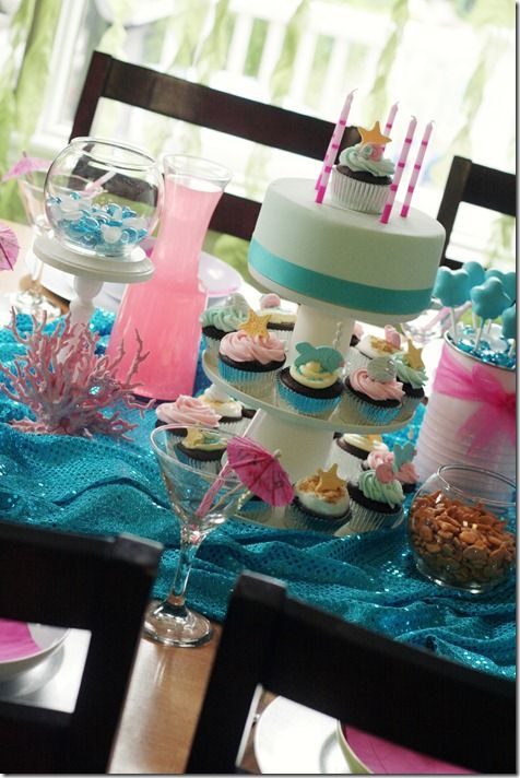 Mermaid Party (thought this would be a good idea for amys first bday) yesss im already beginning to plan!