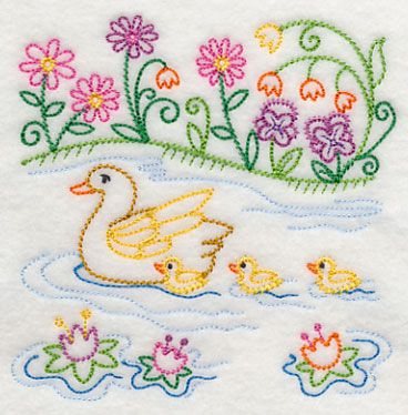 Machine Embroidery Designs at Embroidery Library! - Color Change - J6283 Mother duck