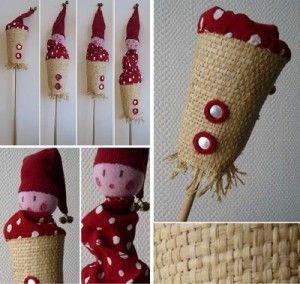 Marionnette fabriquée avec un rouleau de papier toilette