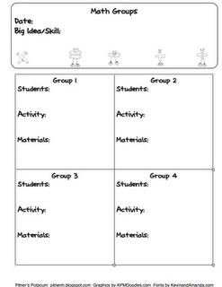Pitner's Potpourri: Guided Math Book Study -- Chapter 5 -- Freebie