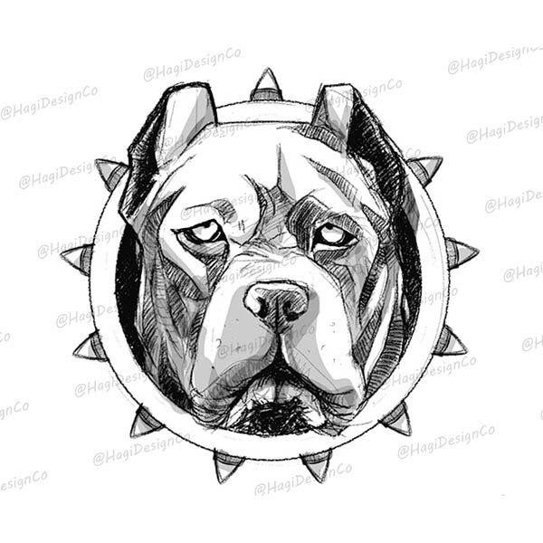 Pitbull Dog Clipart Dog Sketch Png Files Stencil Digital Etsy Dog Sketch Dog Clip Art Dog Stencil