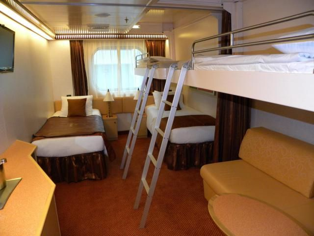Inside the Carnival Dream Cruise Ship: Carnival Dream - Cabins and Accommodations - Family Quint Oceanview Cabin