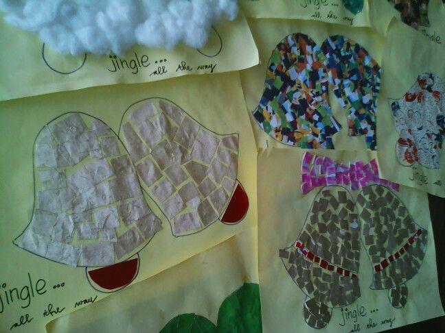 Jingle Bells #collage #paper #reusepaper #diy4kids