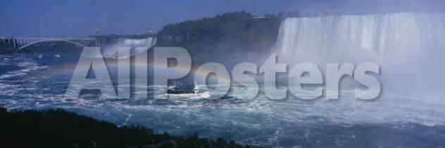 Tourboat near Waterfalls, Niagara Falls, Ontario, Canada Landscapes Photographic Print - 107 x 36 cm