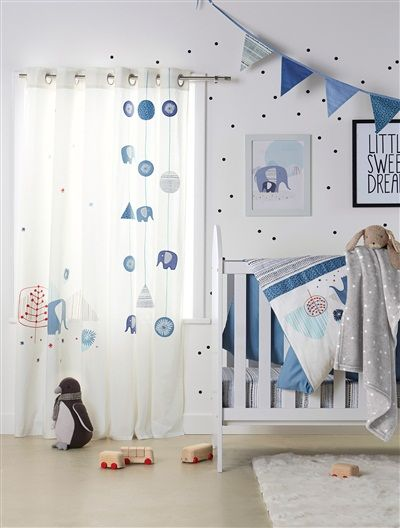 Great Wimpel Girlande f r Kinderzimmer BLAU