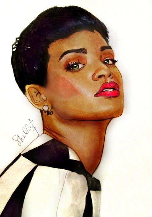 Rihanna art | PENCIL ART | Pinterest