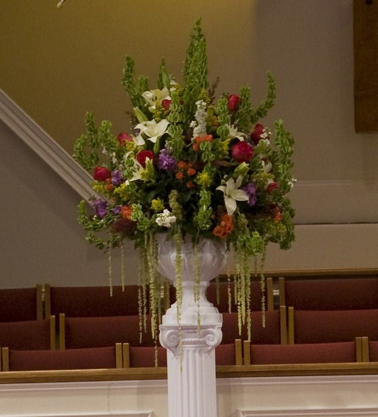 Church Altar Wedding Flower Arrangements: 134 Best Altar Flowers Images On Pinterest
