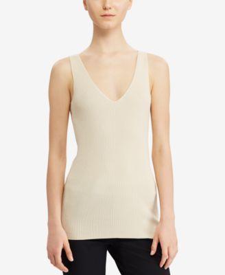 Lauren Ralph Lauren V-Neck Sleeveless Sweater