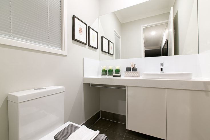 Haven MKII - Powder room design with smartstone benchtops!