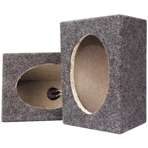"Car Video:Speaker Box-Pyramid 6"" X 9"" Carpeted Speaker Cabinets"